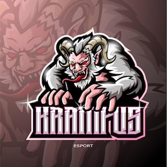 Крампус киберспорт дизайн логотипа