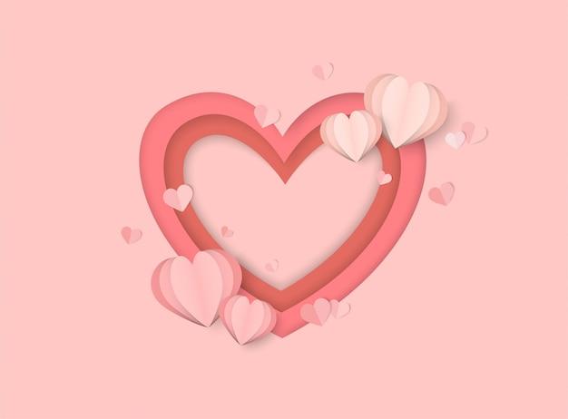 Вырезанное из бумаги сердце