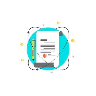 証明書のイラストデザイン