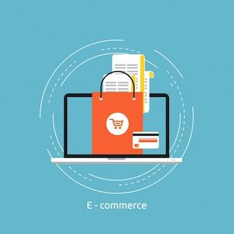 Электронная коммерция дизайн фона
