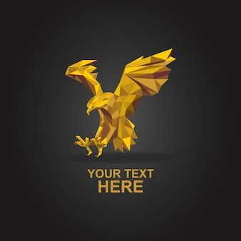 Орел логотип поли золото