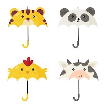 Симпатичные зонтики в форме зверя