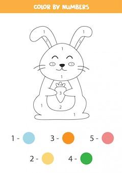 Цветной кролик по номерам.