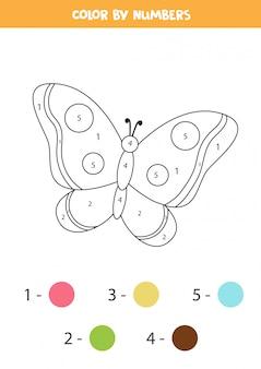 子供のためのぬりえ。かわいい黒と白の蝶。