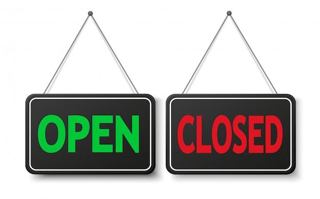 Знак открытой и закрытой двери