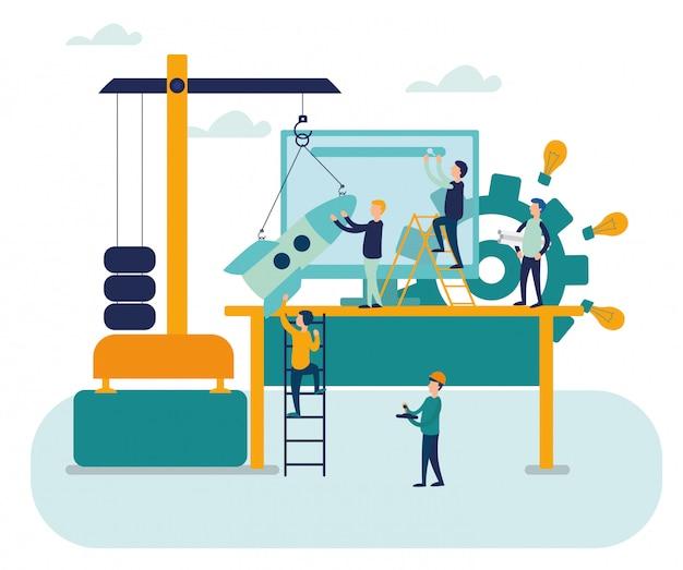 Плоский дизайн концепции деловых людей