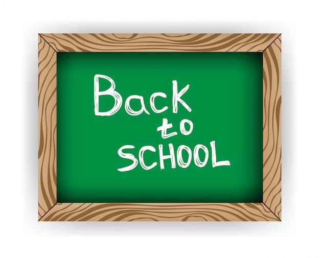 白で隔離される学校に戻る黒板