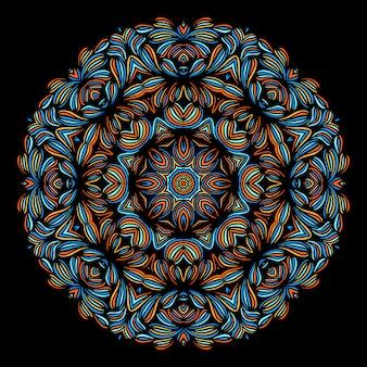 東洋のパターンを持つヴィンテージの装飾的な要素。