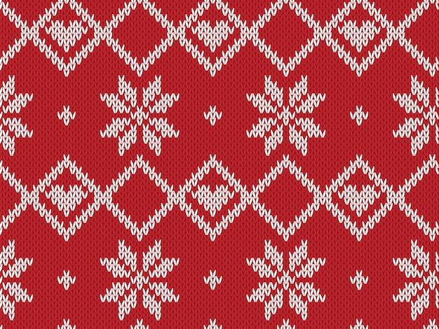 冬の休日のシームレスなニットパターン。