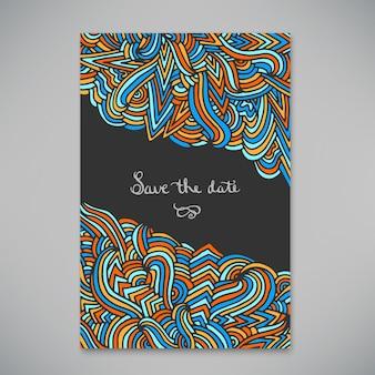招待状や発表のための美しいカード