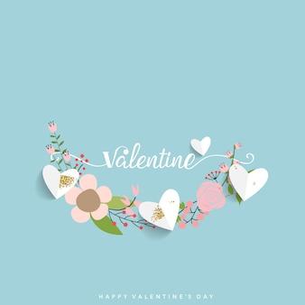 バレンタインデーの背景デザイン。