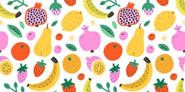 Летние фрукты бесшовные
