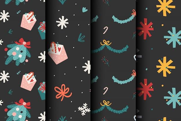 Набор рождественских узоров