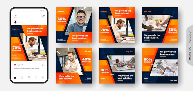 超高級メガビジネスセールソーシャルメディアポストバナー&ウェブバナーコレクション。