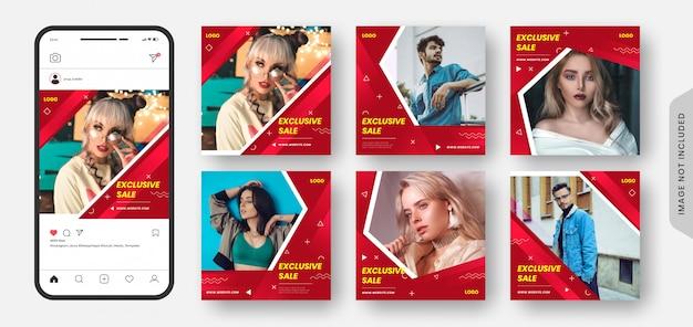 超限定メガファッションセールソーシャルメディア投稿バナー&ウェブバナーコレクション。