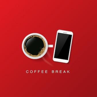 コーヒーポスター広告のベクトルデザイン