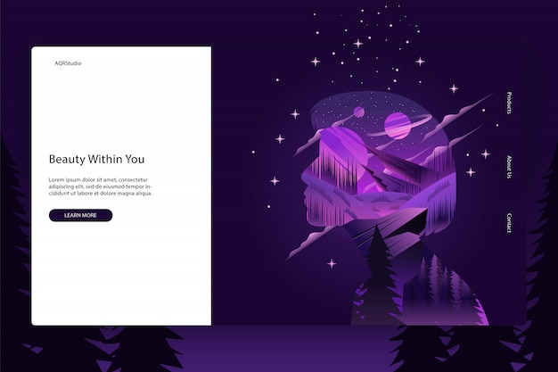 クリエイティブウェブページのテンプレート