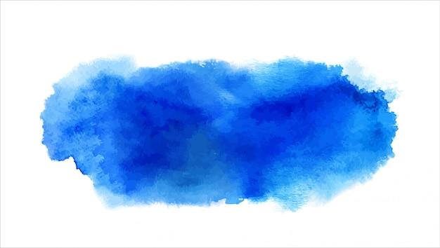 塗料スプラッシュ、ブラシストローク、しみ、ウェットエッジと青い水彩汚れ