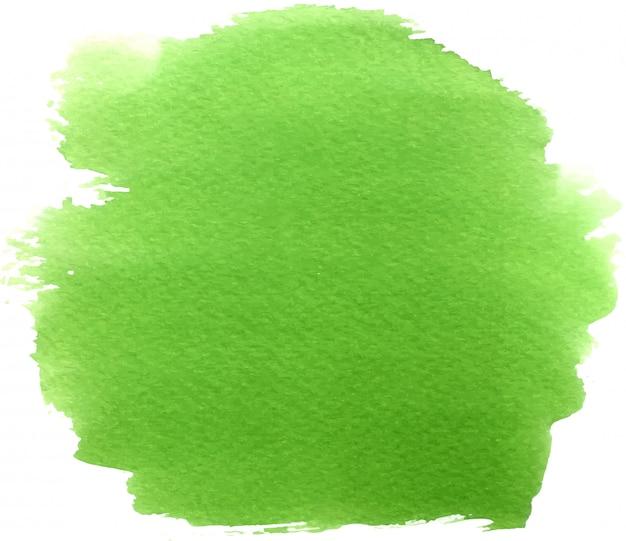 抽象的な緑水彩手描きの背景の汚れ