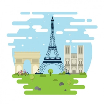 Памятники париж