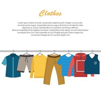 洋服の背景デザイン