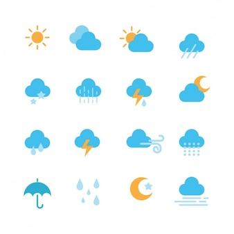 Коллекция погодные иконки