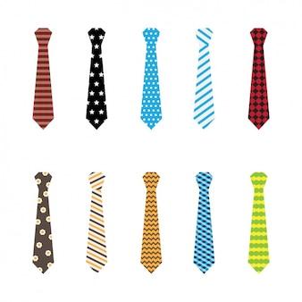 色とりどりのネクタイコレクション