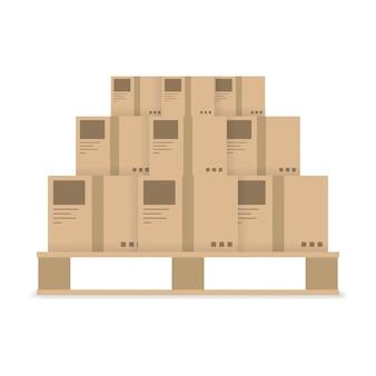 Значок доставки коробки доставки на белом