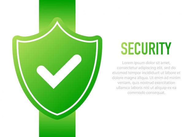 Значок безопасности веб-щит.