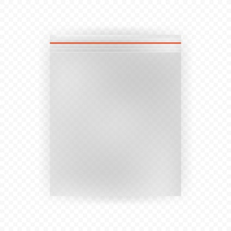 白の現実的なビニール袋