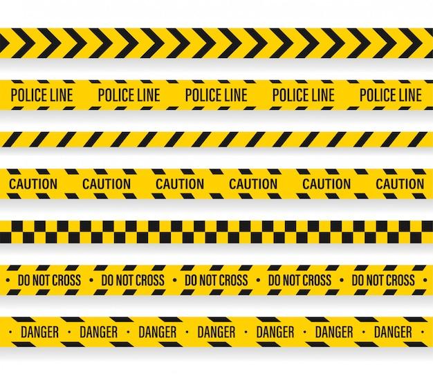 ベクトル警察ラインは、テープのデザインを超えない