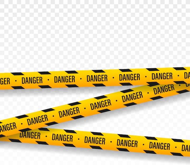 危険。警察のラインはテープのデザインを交差させません。
