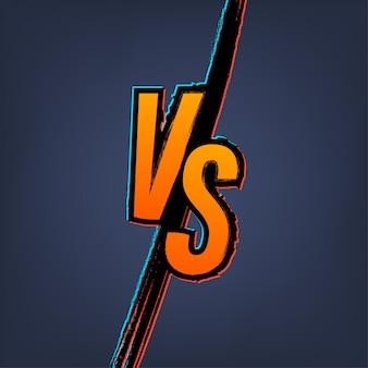スポーツと戦いの競争のためのロゴ対文字対