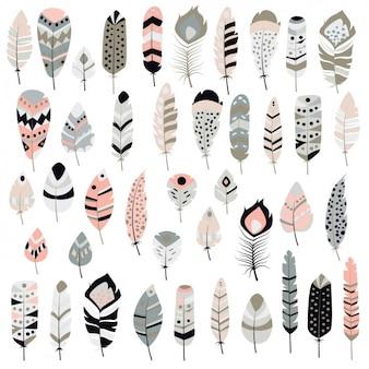 Коллекция декоративные перья