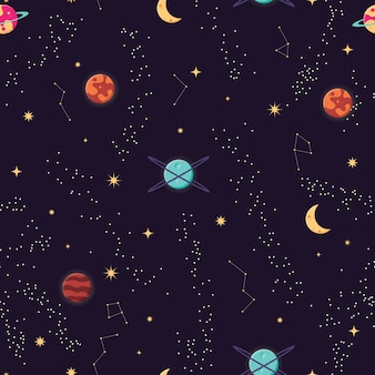 宇宙と惑星と星