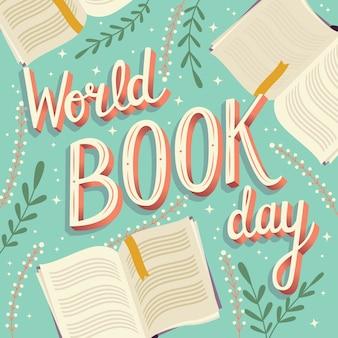 Всемирный день книги, ручная надпись