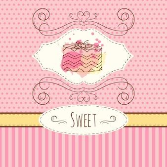 ケーキの背景デザイン