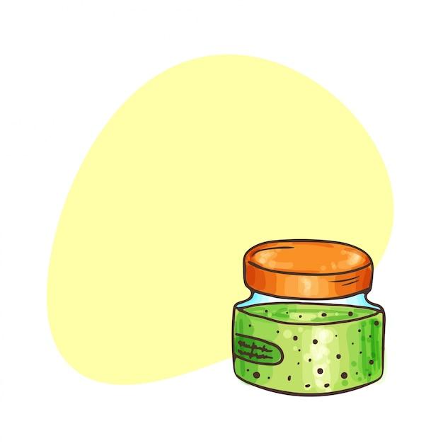 有機化粧品の背景。