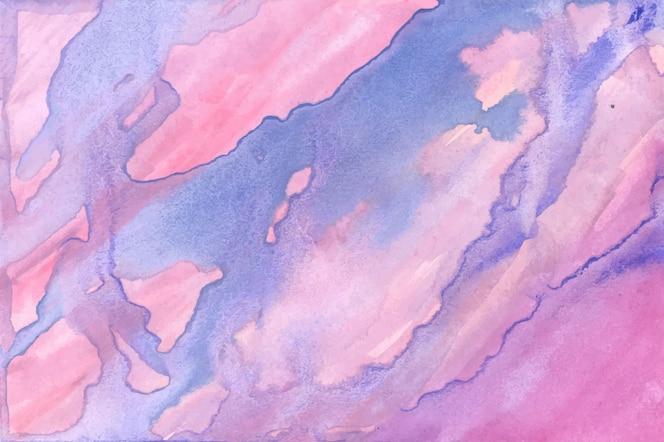 抽象的なブルーピンク水彩テクスチャ背景