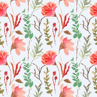 水彩画ボタニカルシームレス花柄