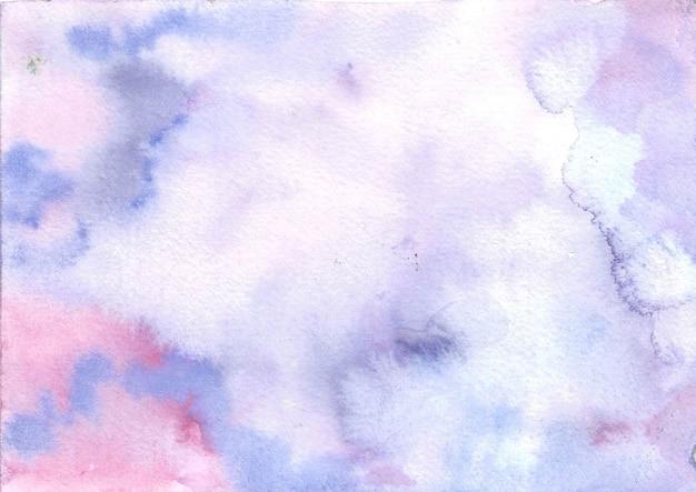 パステルブルーパープルピンク水彩抽象的な背景