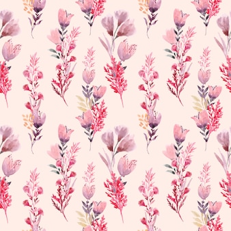 Шаблон цветочных композиций с акварелью