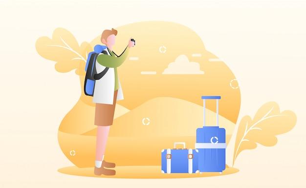 Иллюстрация дня туризма