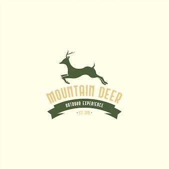 ビンテージ鹿ロゴ