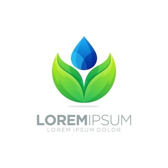Шаблон логотипа капли воды