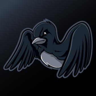 黒い鳥のマスコット