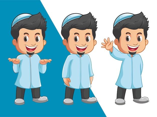 イスラム教徒の少年キャラクター