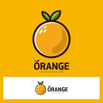 オレンジ色の果物のロゴ