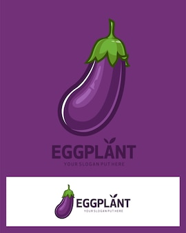 Баклажан овощной логотип