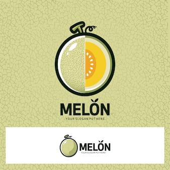 Логотип с фруктами дыни